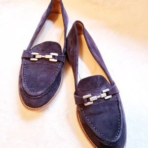 Zara blue suede loafer